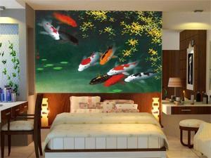 tranh 3d cá màu