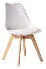 ghế nhựa chân gỗ có đệm lót