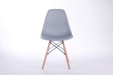 Ghế nhựa chân gỗ Màu xám